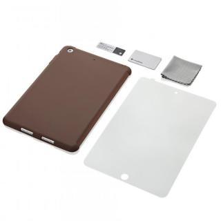 iPad mini/2/3対応 スマートカバー対応 シリコンケース ブラウン