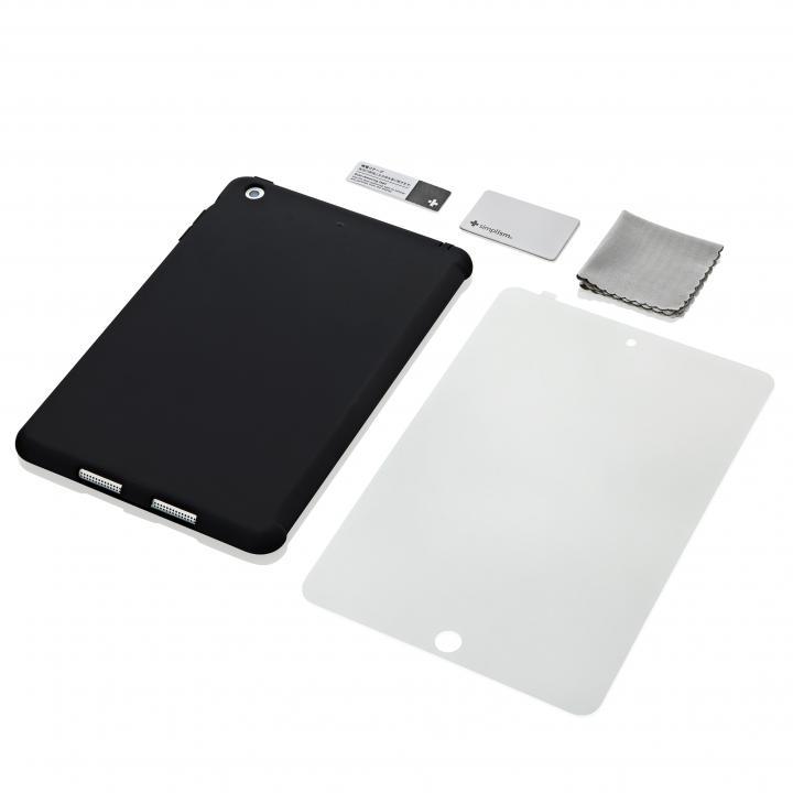 iPad mini/2/3対応 スマートカバー対応 シリコンケース ブラック