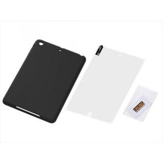 iPad mini/2/3用 シルキータッチ・シリコンジャケット/ブラック_1