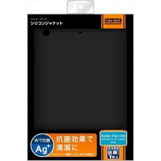 iPad mini/2/3用 シルキータッチ・シリコンジャケット/ブラック_2