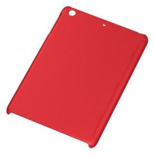 iPad mini/2/3用 ラバーコーティング・シェル/マットレッド