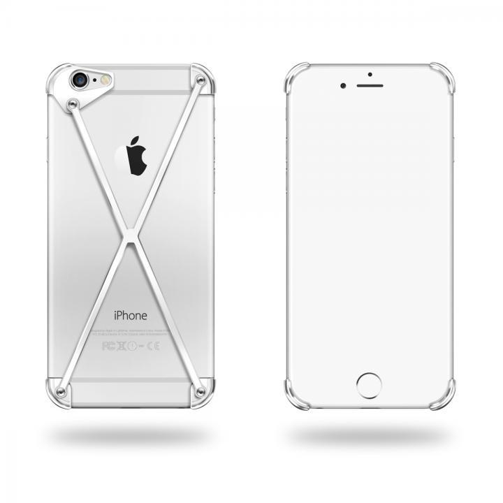 端末の美しさを活かす RADIUS case シルバー iPhone 6 Plus