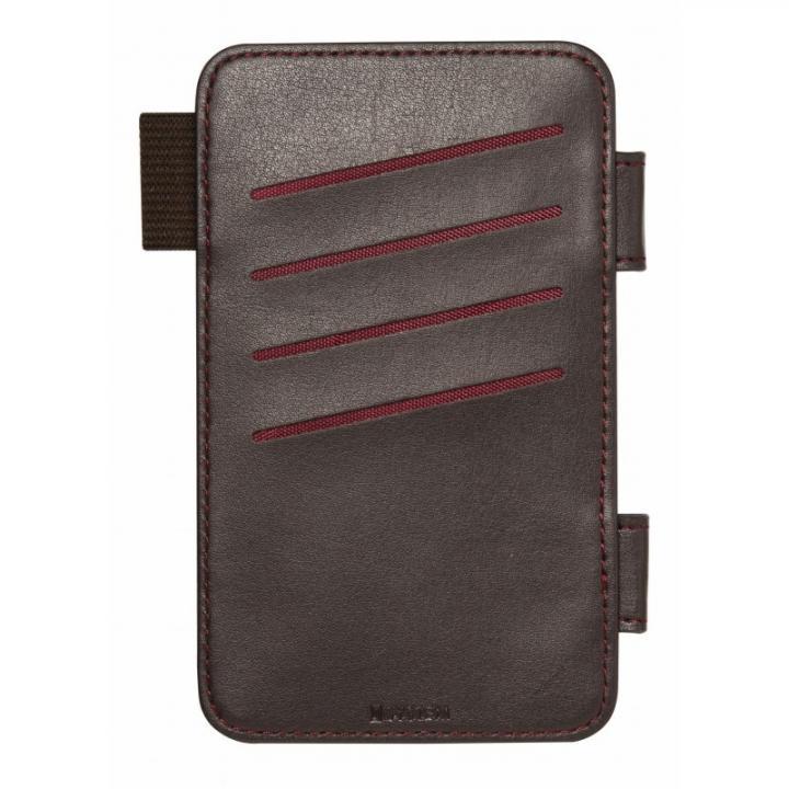 【iPhone6s/6】SYSTEM専用オプション カードポケット ダークブラウン_0