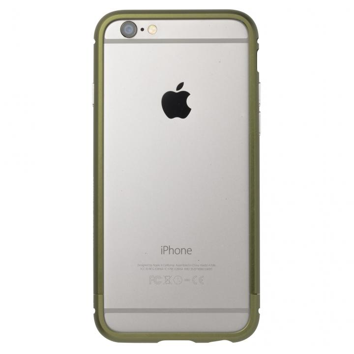 クリスタルアーマー メタルバンパー アーミーグリーン iPhone 6s/6
