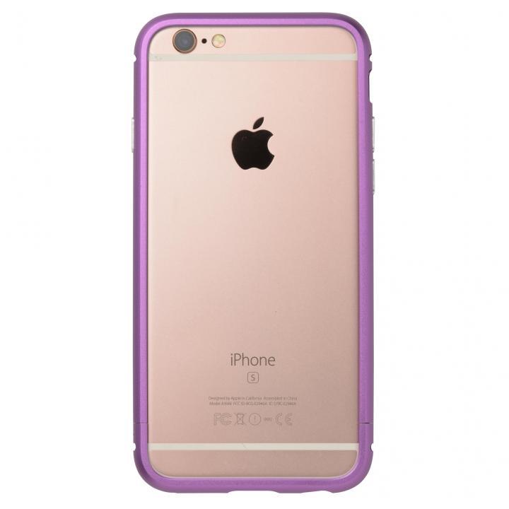 【iPhone6s/6ケース】クリスタルアーマー メタルバンパー パープル iPhone 6s/6_0
