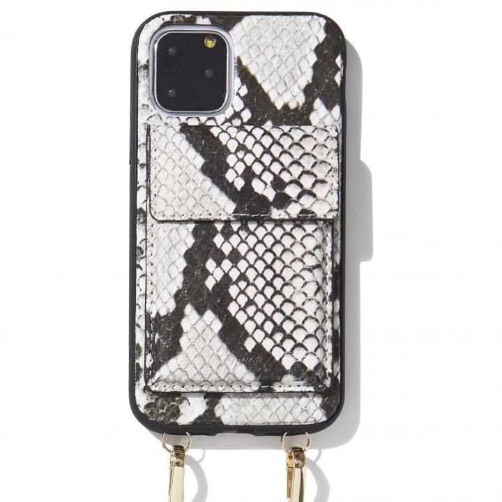 iPhone 11 Pro ケース Sonix(ソニックス) クロスボディーケース Set Gray Python Leather iPhone 11 Pro【7月中旬】_0
