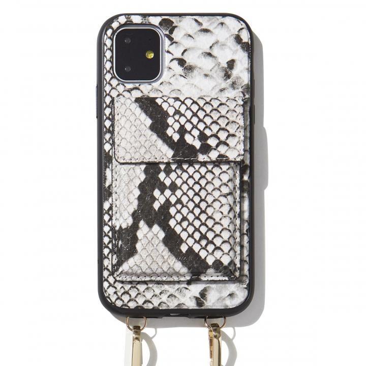 iPhone 11 ケース Sonix(ソニックス) クロスボディーケース Set Gray Python Leather iPhone 11_0