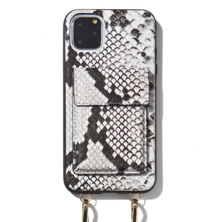 iPhone 11 Pro Max ケース Sonix(ソニックス) クロスボディーケース Set Gray Python Leather iPhone 11 Pro Max【4月下旬】_0