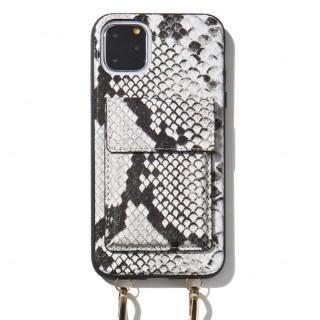 iPhone 11 Pro Max ケース Sonix(ソニックス) クロスボディーケース Set Gray Python Leather iPhone 11 Pro Max【2月上旬】