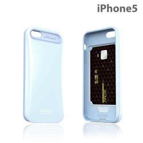 i-Glow パステルケース with TCS  iPhone SE/5s/5 パステルブルー