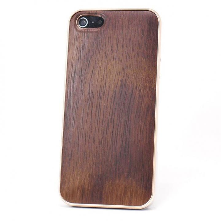 iPhone SE/5s/5 ケース REAL WOODEN iPhone SE/5s/5 ケース 「WoodGrain-木目-」 ローズウッド/PG_0