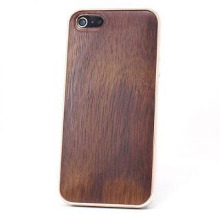 REAL WOODEN iPhone SE/5s/5 ケース 「WoodGrain-木目-」 ローズウッド/PG