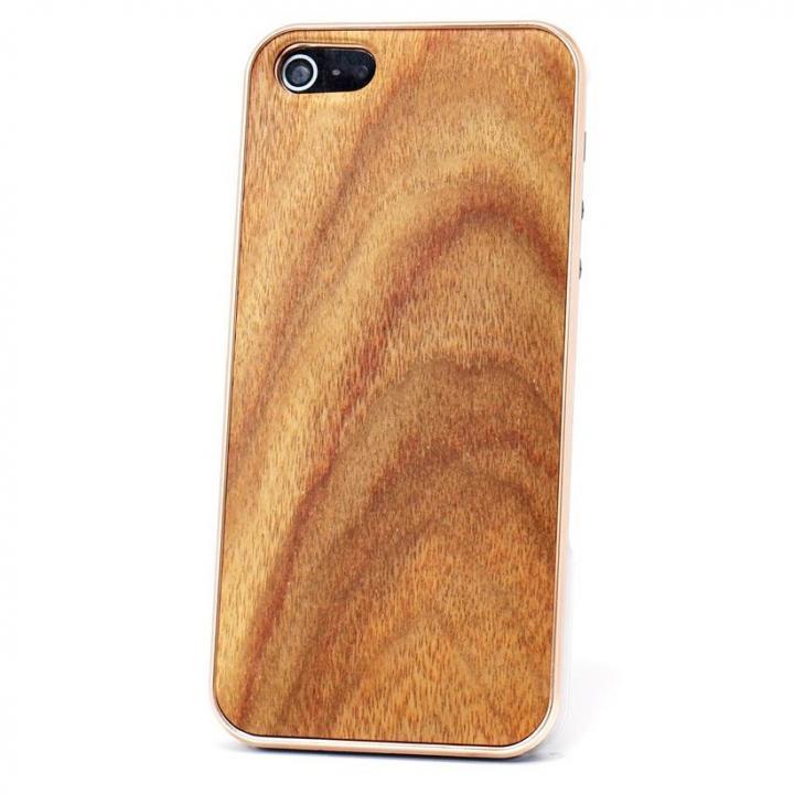 iPhone SE/5s/5 ケース REAL WOODEN iPhone SE/5s/5 ケース 「WoodGrain-木目-」 アンデスチーク/PG_0