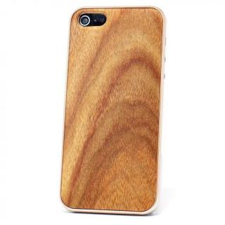 iPhone SE/5s/5 ケース REAL WOODEN iPhone SE/5s/5 ケース 「WoodGrain-木目-」 アンデスチーク/PG