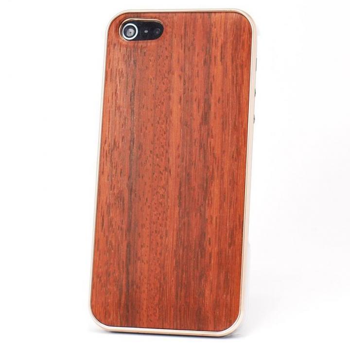 iPhone SE/5s/5 ケース REAL WOODEN iPhone SE/5s/5 ケース 「WoodGrain-木目-」 パドゥク/PG_0