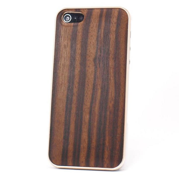 iPhone SE/5s/5 ケース REAL WOODEN iPhone SE/5s/5 ケース 「WoodGrain-木目-」 黒檀 /PG_0