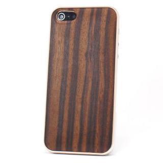 【iPhone SE ケース】REAL WOODEN iPhone SE/5s/5 ケース 「WoodGrain-木目-」 黒檀 /PG