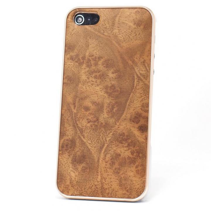 iPhone SE/5s/5 ケース REAL WOODEN iPhone SE/5s/5 ケース 「WoodGrain-木目-」 楠バール /PG_0