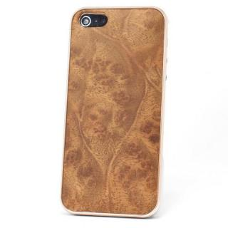【iPhone SE ケース】REAL WOODEN iPhone SE/5s/5 ケース 「WoodGrain-木目-」 楠バール /PG