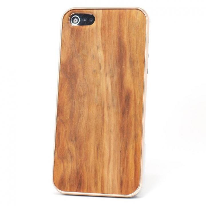iPhone SE/5s/5 ケース REAL WOODEN iPhone SE/5s/5 ケース 「WoodGrain-木目-」 吉野杉バール/PG_0