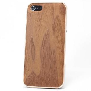 REAL WOODEN iPhone SE/5s/5 ケース 「WoodGrain-木目-」 ウォールナット/PG