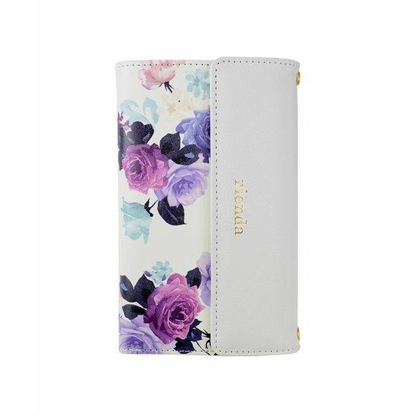 【iPhone8/7ケース】rienda 財布型手帳ケース ローズブライト ホワイト iPhone 8/7_0