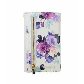 【iPhone8/7ケース】rienda 財布型手帳ケース ローズブライト ホワイト iPhone 8/7_1