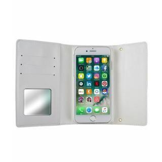 【iPhone8/7ケース】rienda 財布型手帳ケース ローズブライト ホワイト iPhone 8/7_3