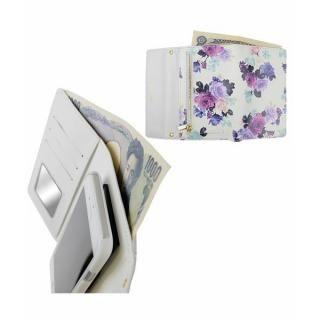 【iPhone8/7ケース】rienda 財布型手帳ケース ローズブライト ホワイト iPhone 8/7_5