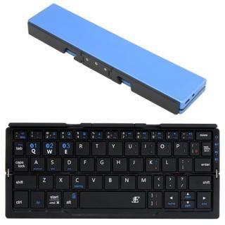 3E Bluetooth キーボード Plier 2つ折りタイプ ポーチ付属 ブルー