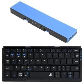 3E Bluetooth キーボード Plier 2つ折りタイプ ポーチ付属 ブルー【12月下旬】