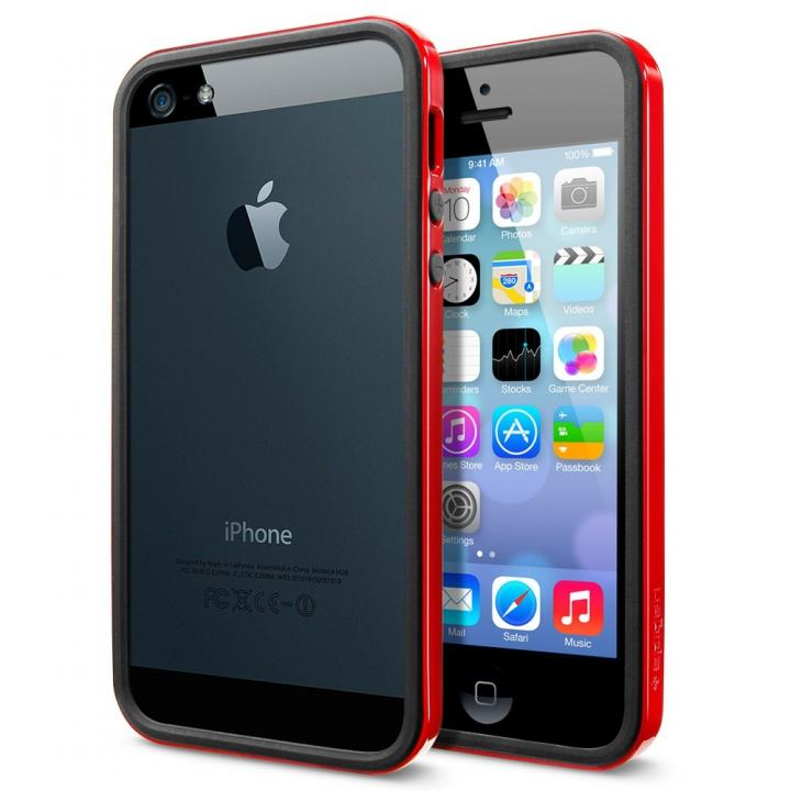 iPhone SE/5s/5 ケース iPhone SE/5s/5 ケース ネオ・ハイブリッド EXスリム ビビッドシリーズ [ダンテ・レッド]_0