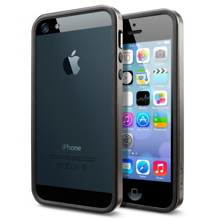 【iPhone SE/5s/5ケース】iPhone SE/5s/5 ケース ネオ・ハイブリッド EXスリム メタルシリーズ [ガンメタル]_0