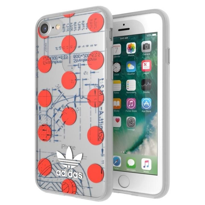 iPhone8/7/6s/6 ケース adidas Originals 70'S クリアケース レッド/ホワイト iPhone 8/7/6s/6_0