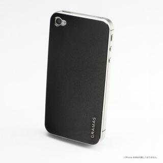 iPhone4s/4 バックパネル GRAMAS Real Metal Back Panel 黒