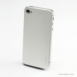 【その他のiPhone/iPodケース】iPhone4s/4 バックパネル GRAMAS Real Metal Back Panel 銀