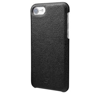GRAMAS シボ打ち牛皮革 バックカバーケース ブラック iPhone 7