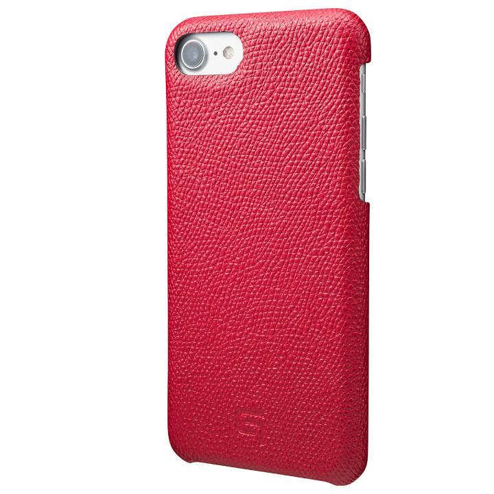 【iPhone8/7ケース】GRAMAS シボ打ち牛皮革 バックカバーケース レッド iPhone 8/7_0