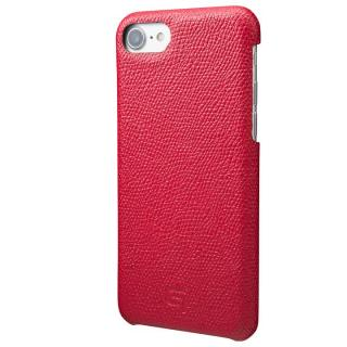 GRAMAS シボ打ち牛皮革 バックカバーケース レッド iPhone 7