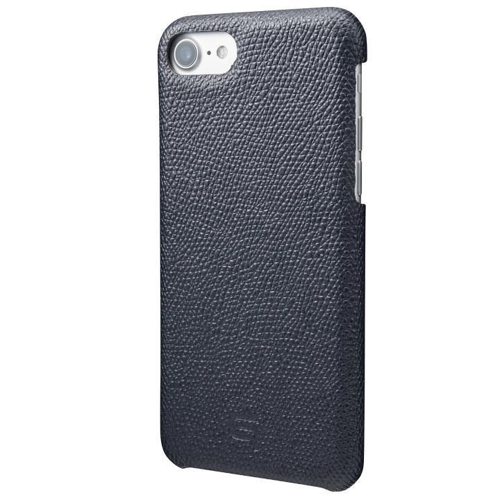 【iPhone8/7ケース】GRAMAS シボ打ち牛皮革 バックカバーケース ネイビー iPhone 8/7_0