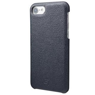 GRAMAS シボ打ち牛皮革 バックカバーケース ネイビー iPhone 7