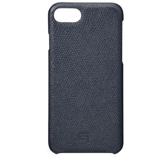 【iPhone8/7ケース】GRAMAS シボ打ち牛皮革 バックカバーケース ネイビー iPhone 8/7_1