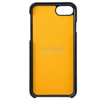 【iPhone8/7ケース】GRAMAS シボ打ち牛皮革 バックカバーケース ネイビー iPhone 8/7_2