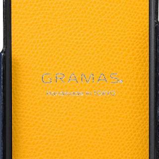 【iPhone8/7ケース】GRAMAS シボ打ち牛皮革 バックカバーケース ネイビー iPhone 8/7_6