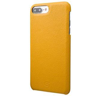 GRAMAS シボ打ち牛皮革 バックカバーケース イエロー iPhone 8 Plus/7 Plus