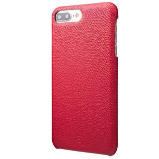 GRAMAS シボ打ち牛皮革 バックカバーケース レッド iPhone 8 Plus/7 Plus