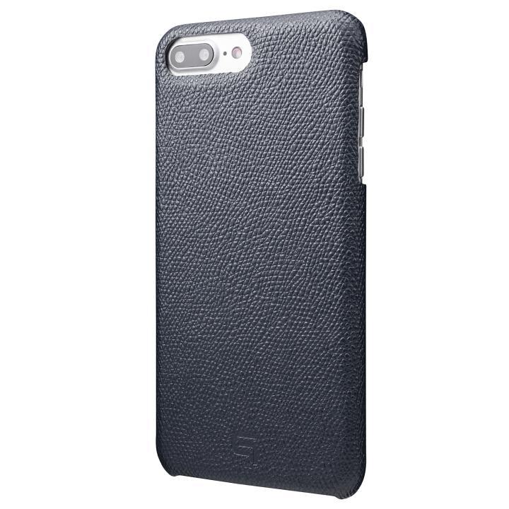 iPhone8 Plus/7 Plus ケース GRAMAS シボ打ち牛皮革 バックカバーケース ネイビー iPhone 8 Plus/7 Plus_0