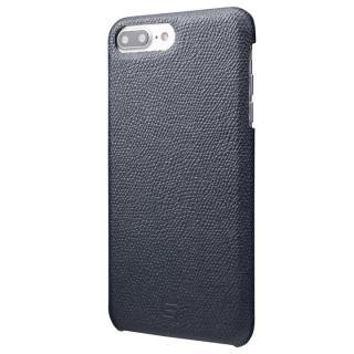 GRAMAS シボ打ち牛皮革 バックカバーケース ネイビー iPhone 7 Plus