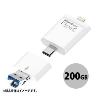 [新iPhone記念特価]Apple専用 USB Type-Cストレージ iType-C 200GB