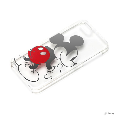 iPhone SE/5s/5 ケース ディズニー iPhone SE/5s/5 ハードケース クリア箔押し ミッキーマウス_0